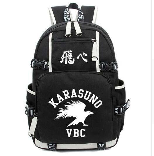 Anime Haikyuu Haikiyu Karasuno Backpack Bag Nylon Student Schoolbag Unisex Bags Laptop Shoulders Bag Gift<br>