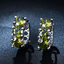 2016 fashion vintage jewlery last design simple nice gife for women hot sale lady wedding green cz zirconia luxury earring(China)