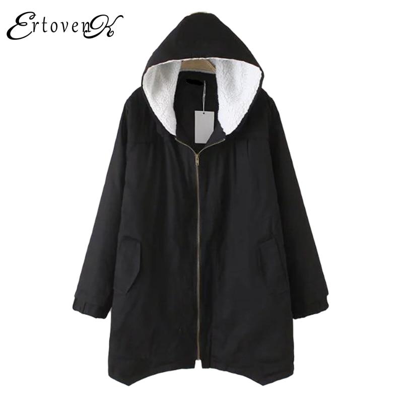 Plus size Women Cotton Clothing 2017New Irregular Coats Jacket Thicker casaco feminino Fashion Top Outerwear abrigos mujer 1044Îäåæäà è àêñåññóàðû<br><br>
