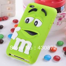 NEW 3D Silicon MM Chocolate Candy Soft Rubber Cartoon Phone Back Skin Case Cover for ipod touch 4 4G