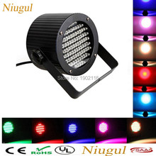 86pcs LEDs mini led par RGB flat par light DMX512 led stage dyed lights led wash light disco wedding Christmas home party lamp(China)