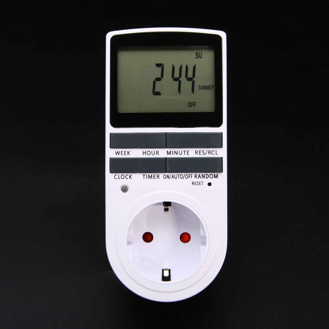 Electronic Digital Timer Switch Socket EU Plug-in Programmable 7 Day 12/24 Hour Timer Switch Socket for Kitchen Timer Switch