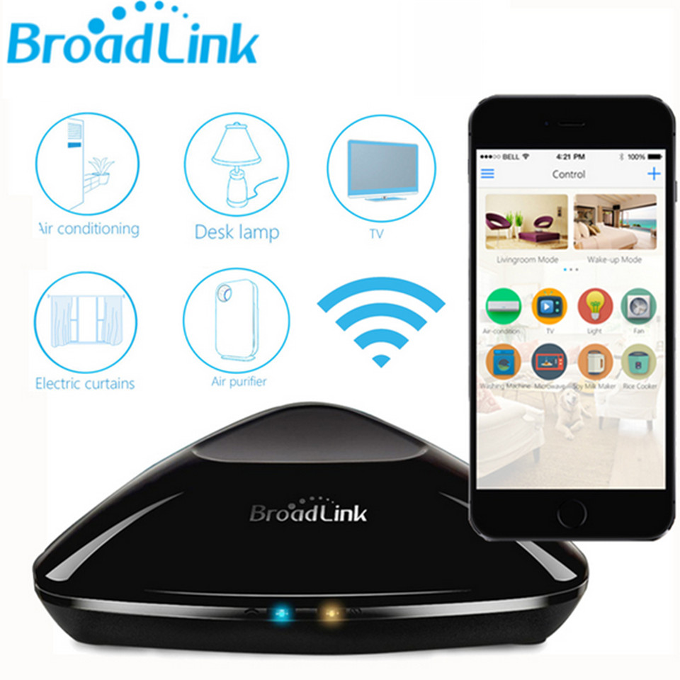 New Broadlink RM Pro RM2 Universal Intelligent controller,Smart home Automation,WIFI+IR+RF Switch remote control For IOS android<br>