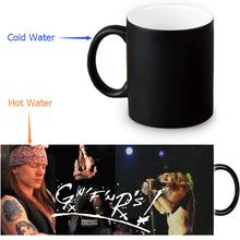 custom morphing mugs Guns and Rose Coffee Tea Milk Hot Cold Heat Sensitive Color changing 12 oz Ceramic Mug(China)