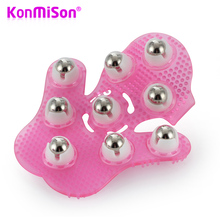 Konmison Roller Ball Body Massage Anti-Cellulite Muscle Pain Relief Relax Massage Neck Leg Back Massager Wheel Corporal(China)
