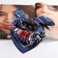Fashion Print 100% Real Silk Scarf ,Women Square Silk Twill Scarves Wraps Necktie Bag Handle Scarf Clothing Accessories
