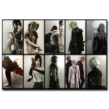 Final Fantasy Art Silk Fabric Poster Print 13x20 24x36 inch Hot Game Picture for Living Room Wall Decoration 009