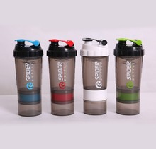 3 Layers Whey Protein Shaker Bottle 600ml Blender Mixer Sports Nutrition Fitness GYM My Water Bottles Eco-Friendly