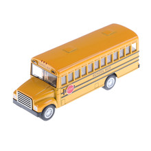 American school bus students Shuttle Back to school bus alloy car Child toy car model(China)