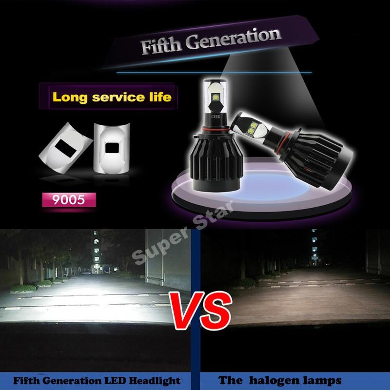 2XPlug&amp;Play Super Bright 80W 8000LM 9005 HB3  9145 H10  6000K CREE Chips  Car LED Headlight Kit Conversion Fog Bulbs Replace HID<br><br>Aliexpress