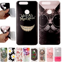 Phone Cases For Huawei Honor 8 Honor8 Coque Etui Capinha Case Cover Shell Cute Bear Glasses Cat Dandelion Glasses Cat Big Smile
