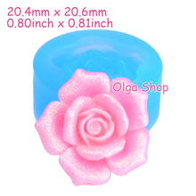 HYL117 20.6mm Rose Flower Silicone Mold - for Cupcake Topper, Sugarcraft, Fondant, Gum Paste, Resin, Candy, Icing, Jewelry Mold(China)