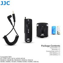 JJC 433MHz RF Wireless Remote Control replaceable Shutter Release 16 Radio Channels for SONY Camera with Multi Interface