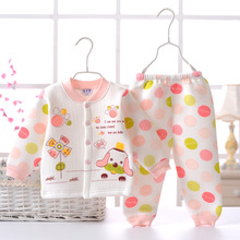 2Pcs/Set Cute Baby Clothing Set 70-100cm Girl Clothes Set Baby Clothing Sets Cartoon Printing Cardigan+Casual Pants Clothes Wear