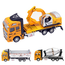 Pull Back Car Vehicle Toy For Boy Engineering Car Dump Truck Artificial Model Classic Toys Kids Boy Favorite Birthday Truck Toy(China)