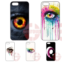 Rainbow Eye S Printed For Apple iPhone 4 4S 5 5C SE 6 6S 7 7S Plus 4.7 5.5 iPod Touch 4 5 6 Hard Pc Skin Accessories