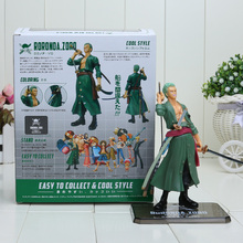One Piece 15cm/6 inch One Piece Sauron ZORO PVC Toy Two Years Later Sauron Figure Toy Doll Model Collection retail
