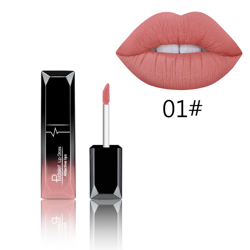 Manooby Waterproof Batom Matte Lipstick Velvet Sexy Red Lip Tint Liquid Lipgloss Makeup Long Lasting Glitter Lip Gloss Cosmetics(China)