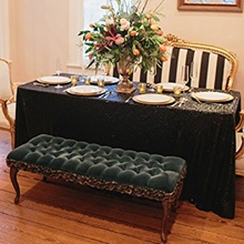 50inx80in Black Sequin Tablecloth Wedding Cake Tablecloth Rectangle Sequins Table Cloth Wedding Sequin Table Overlay