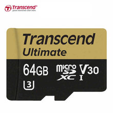 Original Transcend Brand Micro SD Card 32GB 64GB Class10 UHS-I U3, MLC Tarjeta Micro SD 32GB 1080p full-HD 3D 4K Video Card