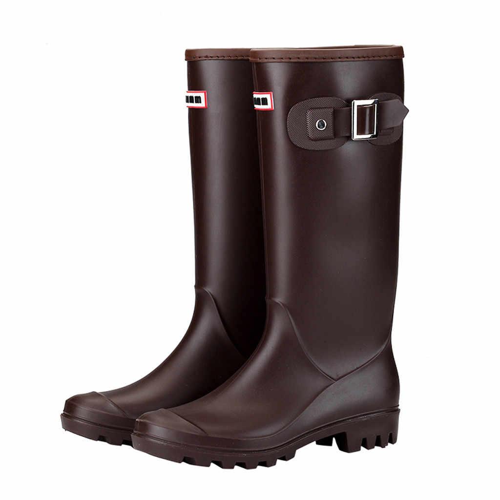 c647788067 Newest Fashion Women Shoes Leisure Low-Heeled Round Toe Shoe Waterproof  High Tube Rain Boots