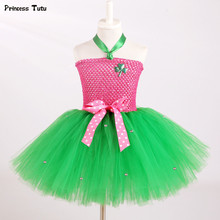 St. Patrick's Day Baby Girls Tutu Dress Pink with Green Clover Kids Tulle Dress Irish Children Girls Princess Party Dance Dress(China)