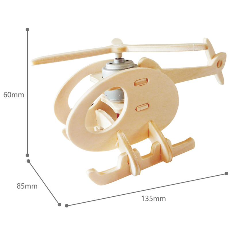 Robud 11 Kinds Solar Energy Powered Plane 3D Wooden Model Building Popular Creative Toys Hobbies Gift for Children,Teens P250 38