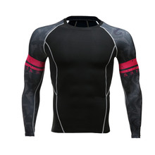 Teen Wolf Bodybuilding Men T Shirt MMA Compression Shirts Long Sleeves T-shirt Fitness Base Layer Skin Tight Weight Lifting Tops