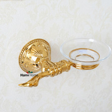 Luxury Brass & Zinc alloy & Glass Bathroom Accessories Soap Dishes / Soap Holder/Soap Case 06-013(China)