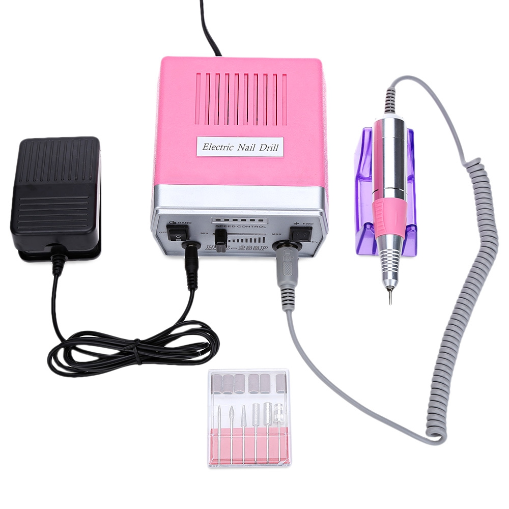 Gustala False Nail Electric File Drill Manicure Pedicure Machine Electric Nail Drill Manicure Kit Nail Art Tools <br>