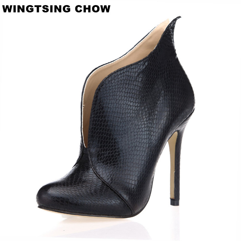 Large Size 43 Ankle Boots For Women Fashion Autumn Boots Heel Shoes Women Pumps Comfort Leather Shoes Women Boots<br>
