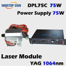 Yag laser diode 75w +laser power supply 75w laser mark machine laser diode(China)