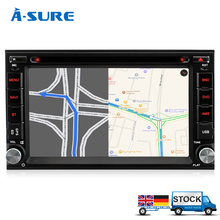 A-Sure In Car Double 2 Din GPS DVD Player sat nav stereo Bluetooth USB FM Radio Navigation Head Unit