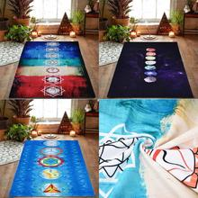 2018 Hot Rainbow Beach Mat Mandala Blanket Wall Hanging Tapestry Stripe Towel Yoga NEW DE5(China)
