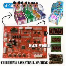 CE approval cute indoor arcade hoops cabinet coin operated basketball game machines for children