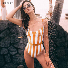 Buy 2018 Sexy Floral One Piece Swimsuit Women Swimwear Push Monokini Bodysuit Print Swim Suit Hollow Bathing Suit Beach Wear