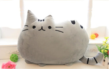 40/50cm Plush Juguetes Stuffed Toy Animal Doll Talking Animal Peluches Pusheen Cat For Girl Brinquedos Kid Kawaii Cute Cushion(China)