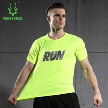 Vansydical Men's Running Sports T-shirts Loose Breathable Quick Dry Fitness Shirts Training Basketball Tennis Sweatshirts Tops