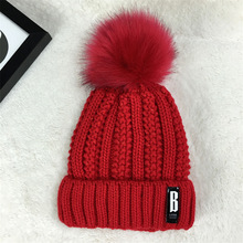2017 women hat the hundreds Brand New High-Quality women winter mink The Ball ski rabbit fur hat pom poms knitted hats made of(China)