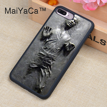MaiYaCa Han Solo Carbonite Full Covered Rubber Case For Apple iPhone 7 Plus 5.5 inch Mobile Phone Back Cover Case(China)