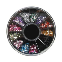 Artlalic 1.5mm 12 color diamond nail art styling tools decorations rhinestones jewelry DIY dress bag cell phone case