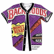 2 Colors Real AMERICAN USA Size Backwoods Fashion 3D Sublimation Print Custom made Baseball Jersey plus size