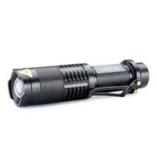 2017 Adjustable Focus 3-Modes CREE XML XM-L T6 LED Flashlight Torch 3000 Lumens For 1X18650 TOP