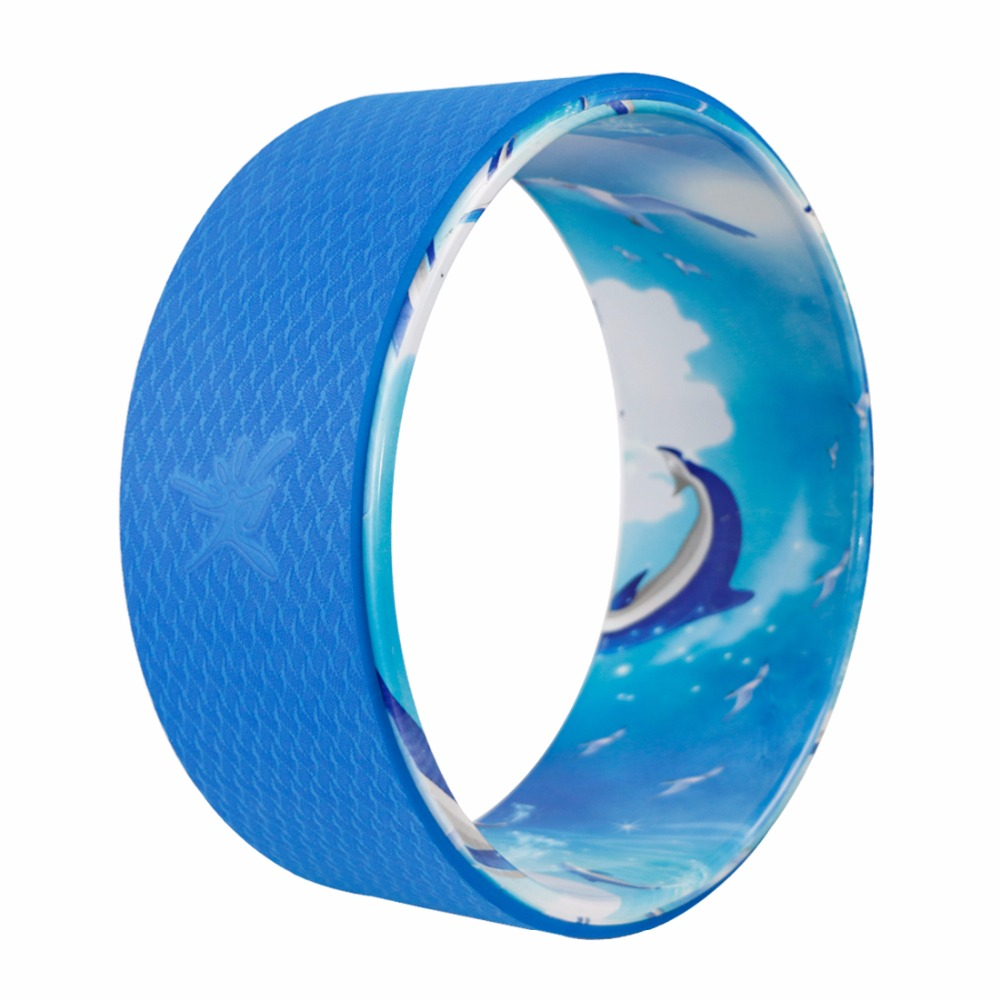 New Yoga Auxiliary Wheel Blue Ocean Back Bent Yoga Circle Relaxed Waist Wear-resistant and Non Slip Loading Weight 1000LB<br>