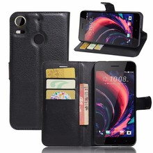 Newest smartphone cases for HTC Desire 10 Pro,100pcs/lot,Top TPU leather flip wallet case for HTC Desire 10 PRO ,free shipping(China)