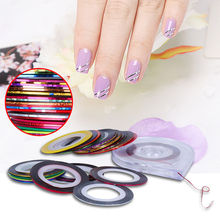Beau Gel 2Pcs Rolls Striping Tape Line Nail Art Tips Decoration Design DIY Sticker Care + Case Box Holder Manicure Tools