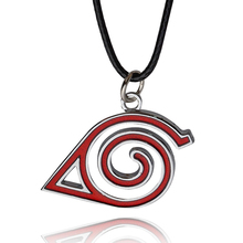 Buy Hollow Naruto symbol necklace Women Men Leather chain Necklaces Pendants Naruto Leaf Village Design Simple Necklace for $1.49 in AliExpress store
