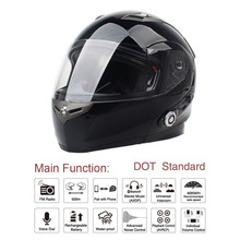2017 New Motorbike Bluetooth Smart Helmet Motorcycle Integral/Half Face Built in FM Intercom Device Support 2 Riders Talk(China)