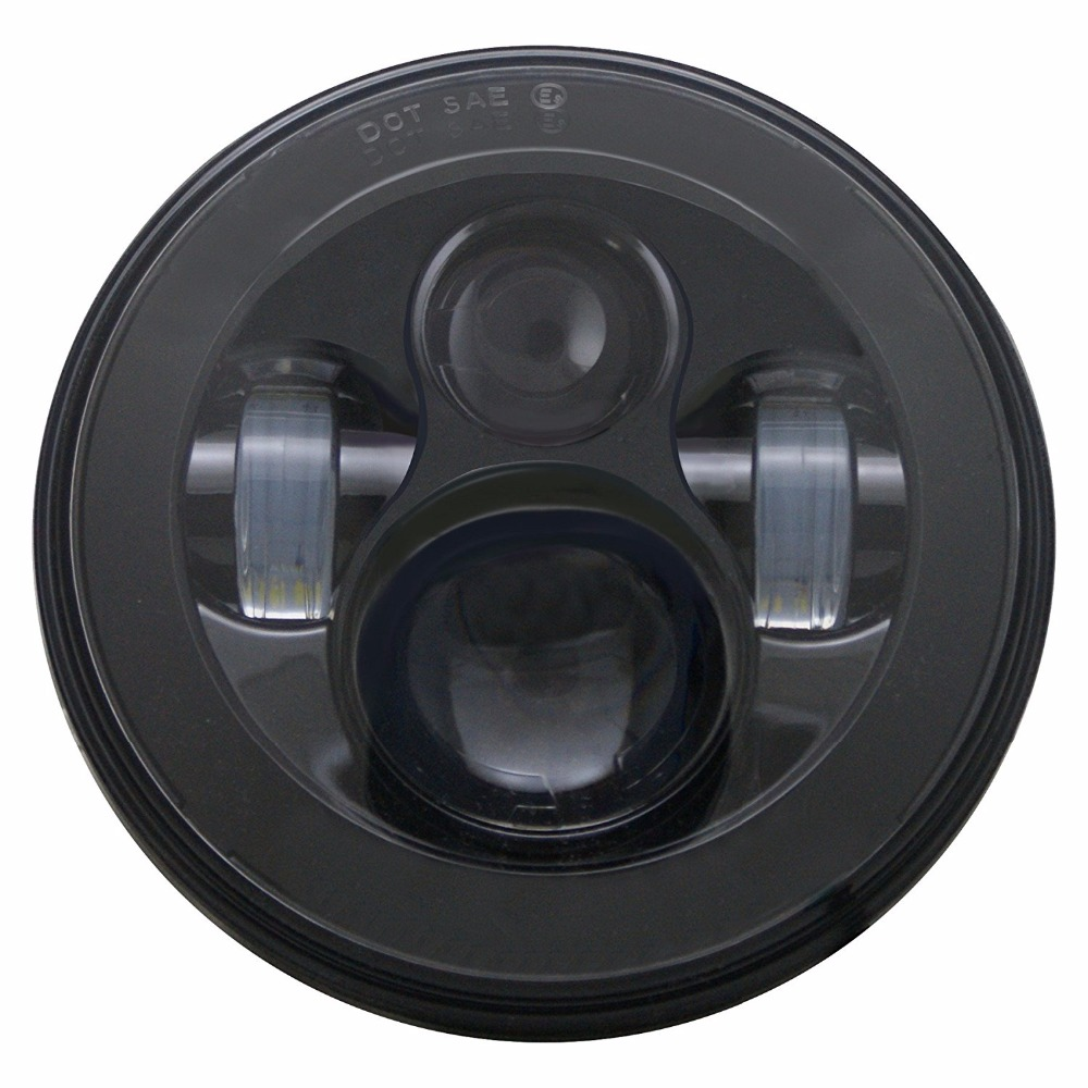 7 LED Headlight For Harley Davidson Motorcycle Projector Daymaker HID LED Light Bulb Headlamp Black / Chrome<br>