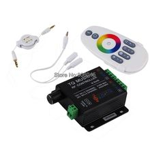 DC12V 24V 18A 6x3A TQ Music2 Controller LED RGB Music Sound Sensitivity Controller with RF Wireless Remote for RGB LED Strip